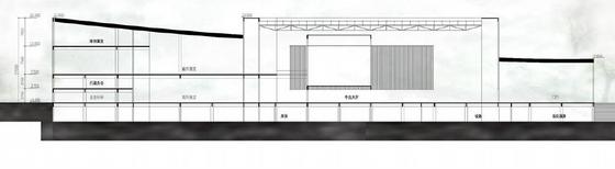 [安徽]六层徽派意蕴立方形体综合档案馆建筑设计方案文本-六层徽派意蕴立方形体综合档案馆建筑剖面图