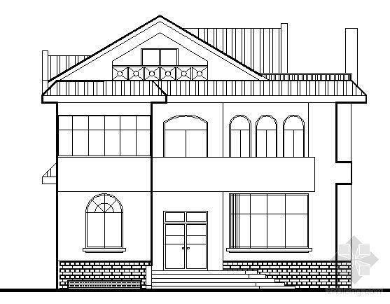 某二层坡顶别墅建方案图