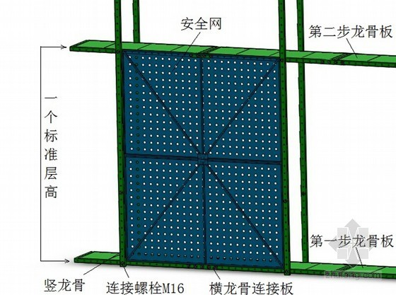商业办公楼自升式升降平台技术交底(附图)