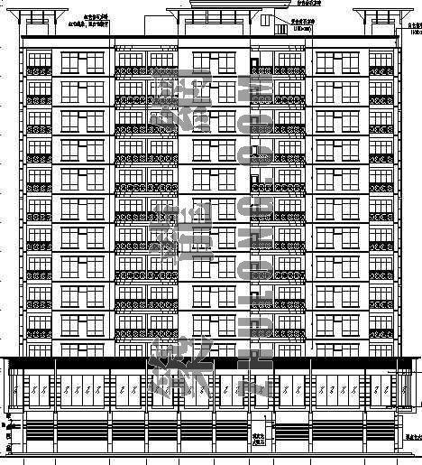 某小高层住宅楼建筑施工图