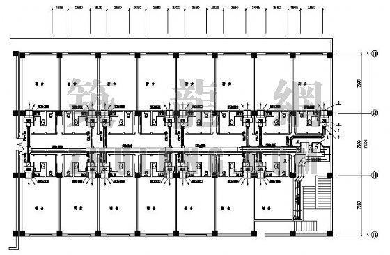 某宿舍楼空调平面图