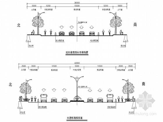 市政道路主干路施工图设计101张(含箱涵管线)