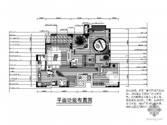 98平米二居室设计图
