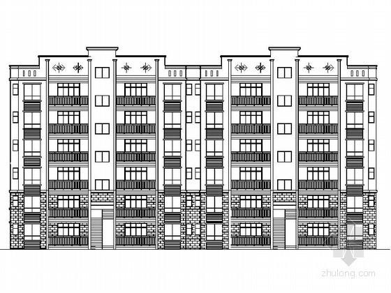 [重庆]某六层板式住宅建筑扩初图(南梯)