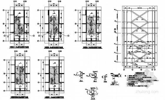 [常州]29层剪力墙住宅楼梯节点构造详图
