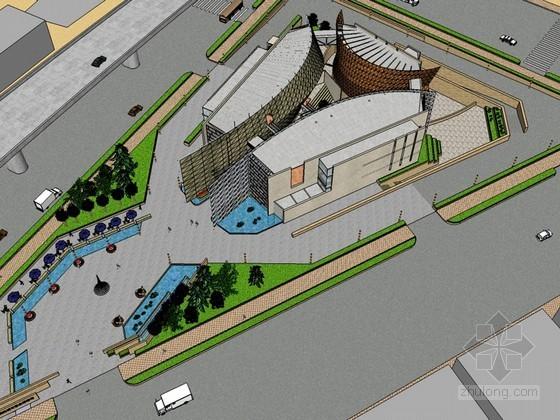 城市规划博物馆SketchUp模型下载