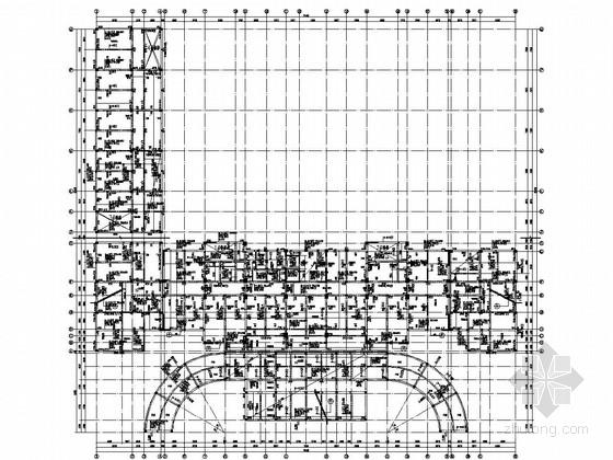十层框剪结构办公楼结构施工图(桩基础)