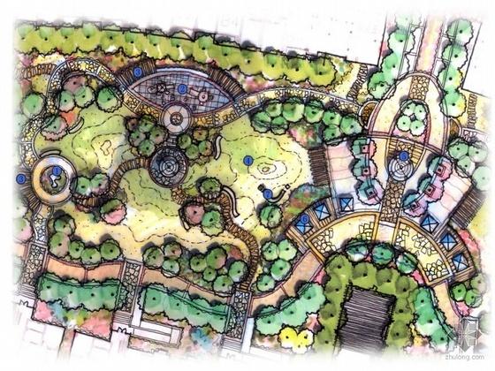 上海现代美式风情居住区全套景观设计文本