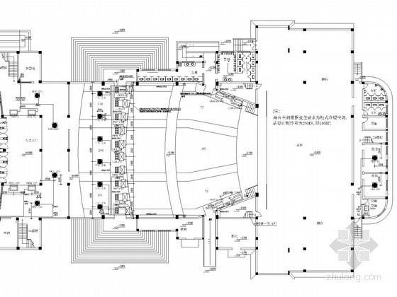 VRV风管机空调图资料下载-三层剧院VRV空调及通风排烟系统设计施工图