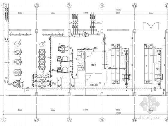 机场建筑空调直燃机房系统设计施工图