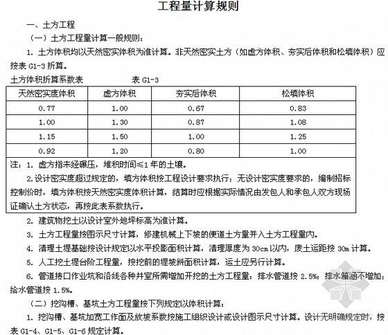 [湖北]房屋建筑工程和市政基础设施工程定额说明及计算规则(2013版)