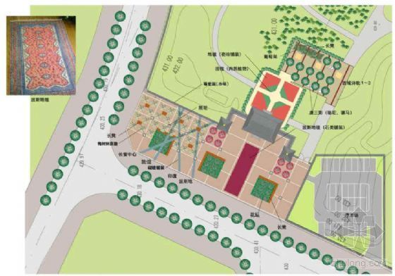 大唐芙蓉园北门入口广场景观设计方案