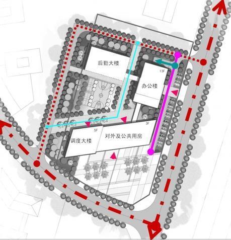 [重庆]高层金属板幕墙办公楼建筑设计方案文本-高层金属板幕墙办公楼建筑分析图