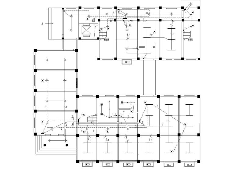 [浙江]多层办公楼装饰工程电气施工图设计(最新设计)