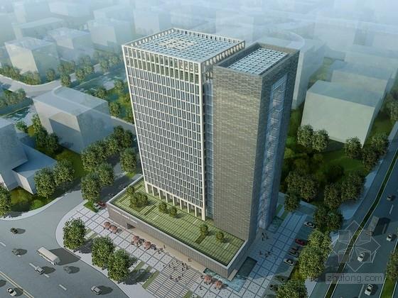 [浙江]19层现代风格空中花园式办公建筑设计方案文本