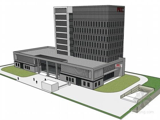保险公司建筑SketchUp模型下载