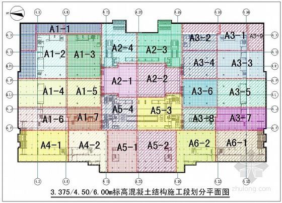 [北京]博物馆扩建工程混凝土施工方案(平面图)