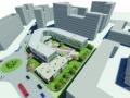 [河北]现代感红砖外墙简约型小学及25班幼儿园建筑设计方案文本