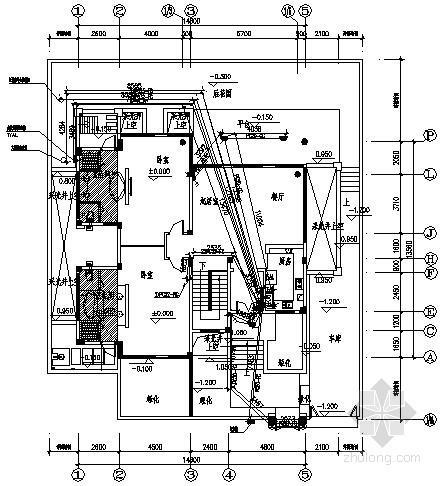 [海南]别墅建筑C型住宅电气施工预埋图