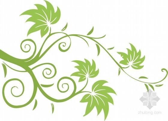 手绘植物花纹装饰贴图