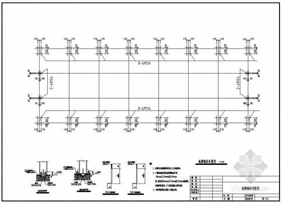 某15m跨带10吨吊车钢结构厂房建筑结构设计图