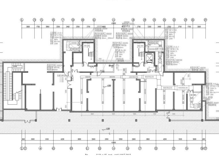 [安徽]高层住宅小区部分通风防排烟系统设计施工图(大院设计)