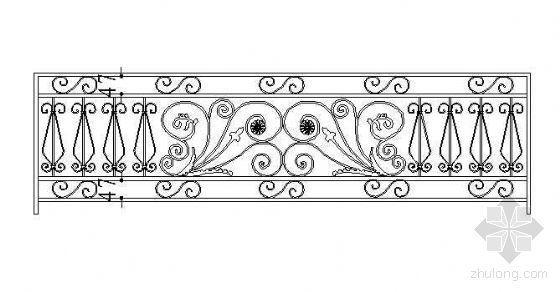 铁艺栏杆标准段设计图1