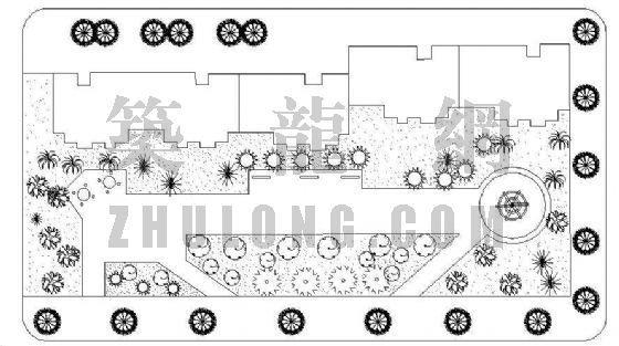 东明新村三栋绿化方案
