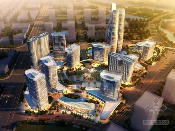 [北京]现代风格超高层商业区规划及单体设计方案文本