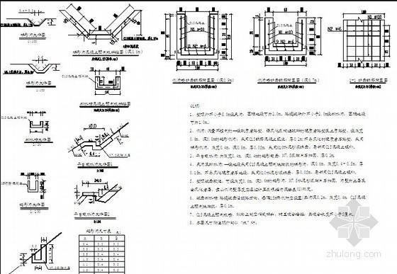 铁路路基地面排水水沟设计大样图