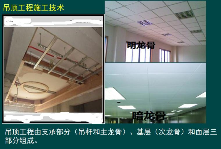 二级建造师《建筑工程管理与实务》装饰装修施工技术精讲PPT