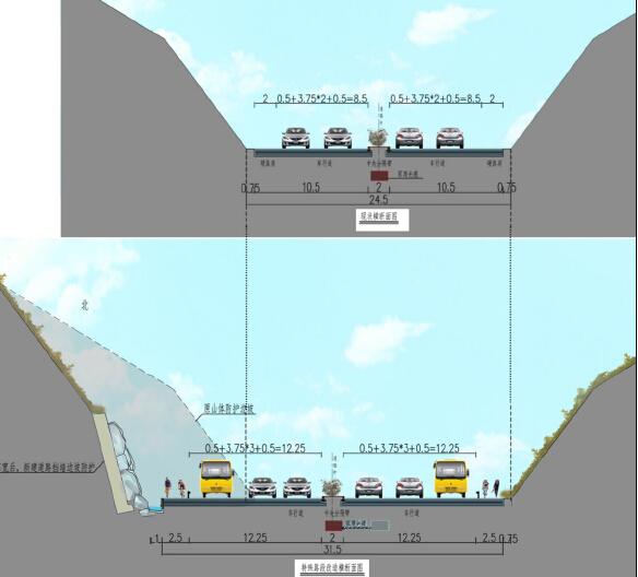 市政道路提升改造工程设计方案投标文本94页附177张图纸(拼宽桥拼宽路基,路桥交通景观)_10