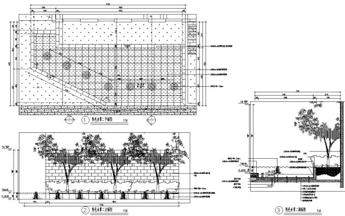 [重庆]生态智能交通物联网RFID工程中心环境景观设计全套施工图(2017最新图纸)-特色水景详图