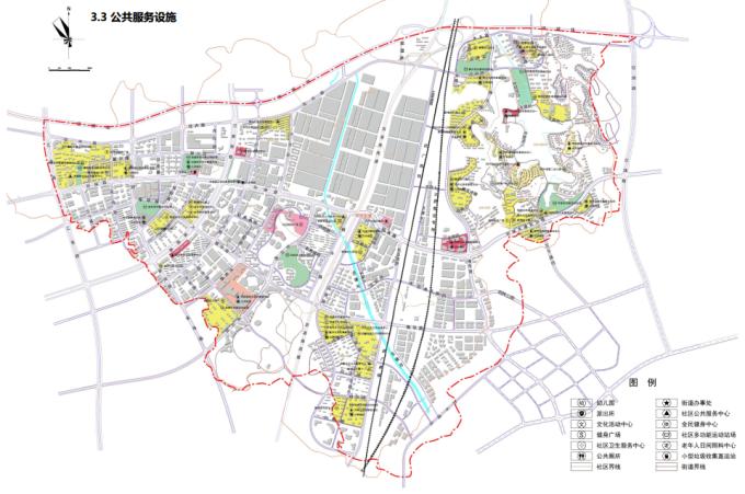 [湖南]生态海绵城市雨水环保科技工业产业园区景观设计方案(2016最新)-公共服务设施规划图