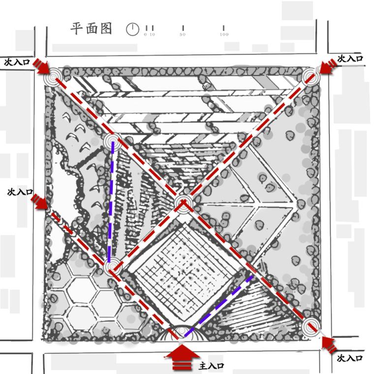 七巧板文化广场设计_5