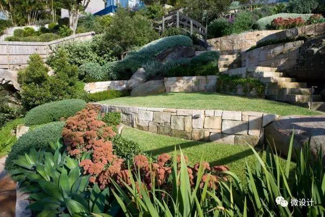 各式各样的庭院景观墙,美_12