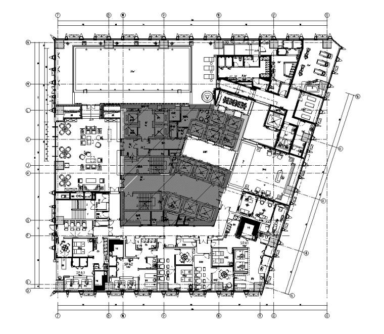 成都万达瑞华酒店超清效果图&全套施工图&物料书