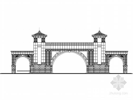 [合集]24套大门建筑施工图(学校、接待中心、公司大门、欧式)_31