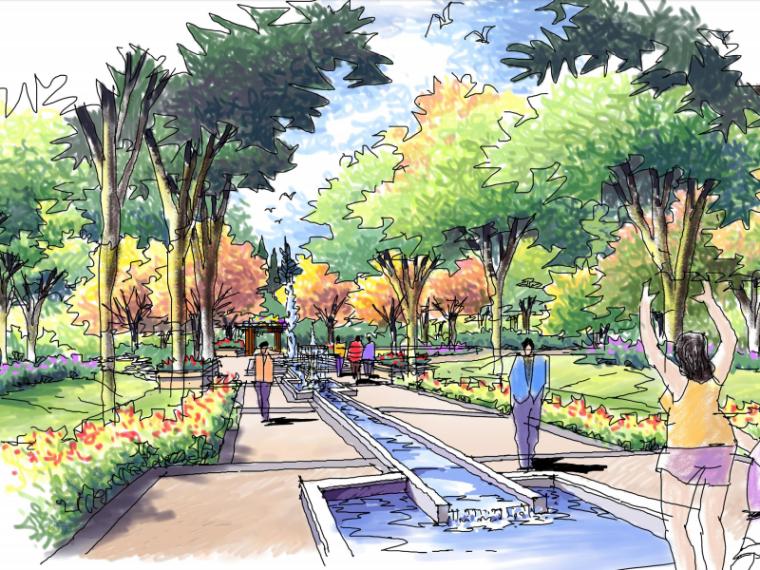 江苏南京北外滩水城13街区景观概念方案设计文本