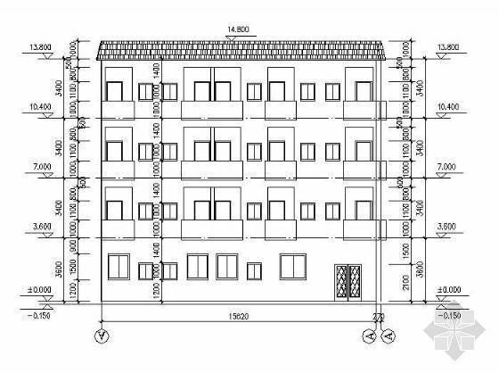 某四层民房结构施工图纸