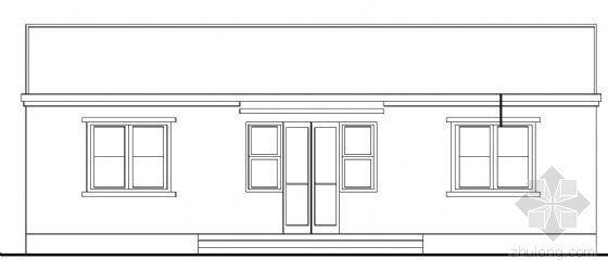 某单层民宅建筑方案图
