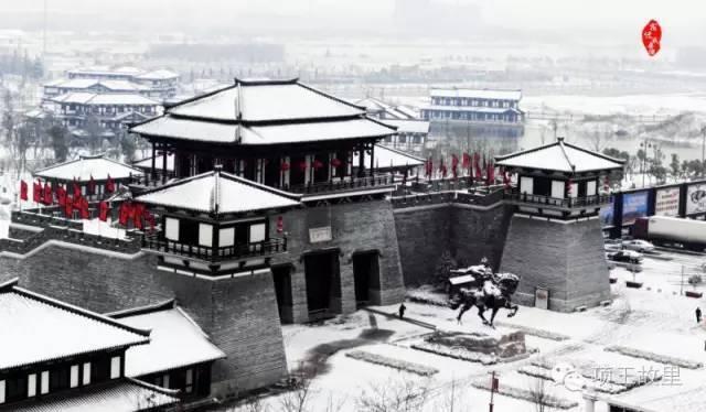 最美不过初雪,宿迁的项王故里就变成了西楚古城_5
