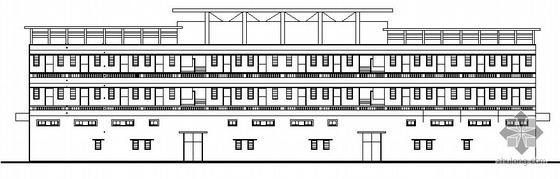 某乡村三层综合楼建筑施工图