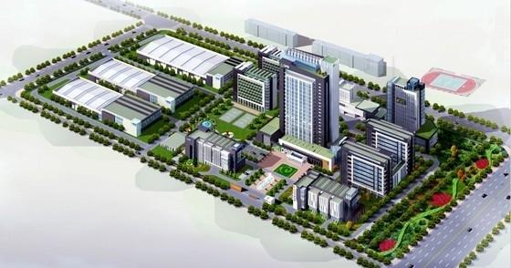 [山东]现代风格办公区规划及单体设计方案文本( 含CAD)