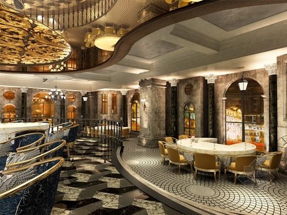 歐式風格主題餐廳設計3D模型