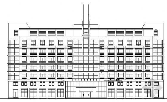 某消防队办公楼建筑施工图