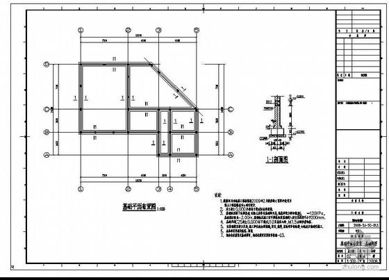 四川某建材公司门卫室及食堂全套图纸
