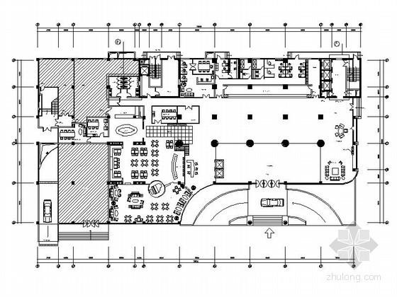 某酒店装饰工程户型平面布置图