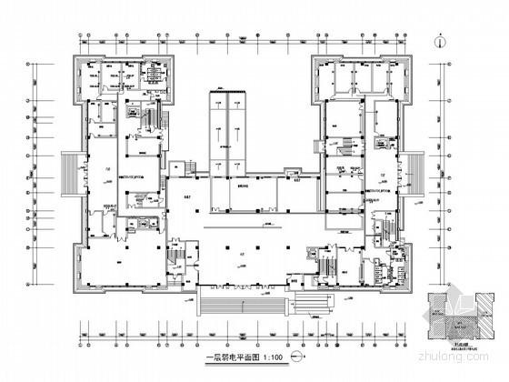 [江西]法院强弱电施工图(图纸清晰)