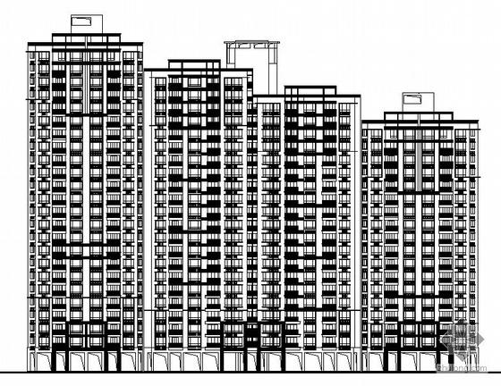[深圳锦缎]某高档小区住宅楼建筑施工图